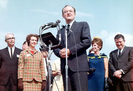 Hubert Humphrey with McNair