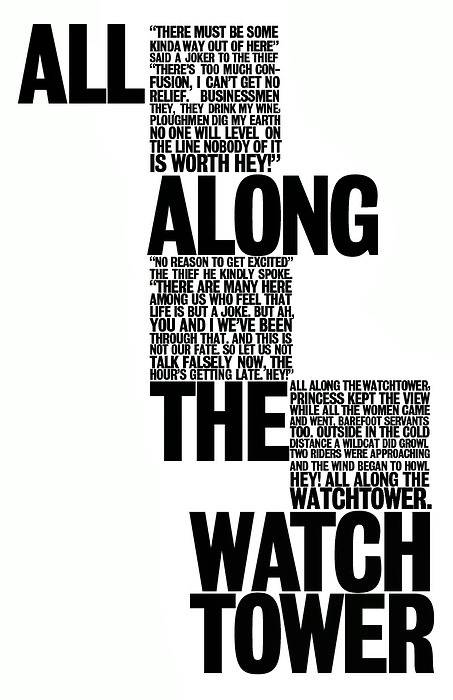 All Along the Watch Tower Words