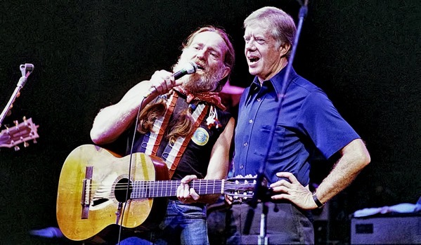 Willie Nelson and Jimmy Carter