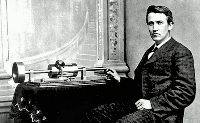 Frank Beacham's Journal: On this day in 1877 — 143 years ago — Thomas  Edison announced his invention of the phonograph — a way to record and play  back sound