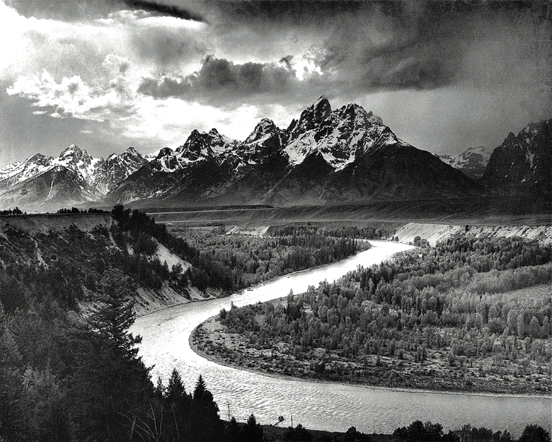 Ansel Adams-The Tetons and the Snake River (1942)