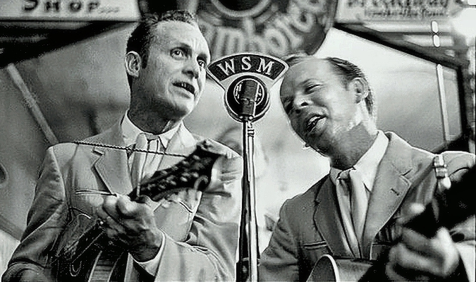 Ira Louvin with brother