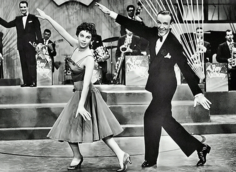 Leslie Caron and Fred Astaire
