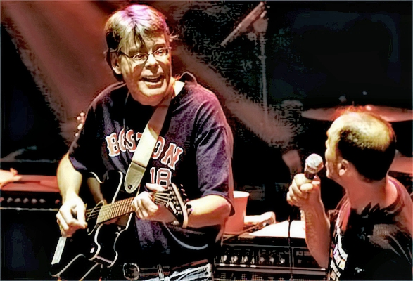 Stephen King with Rock Bottom Remainders