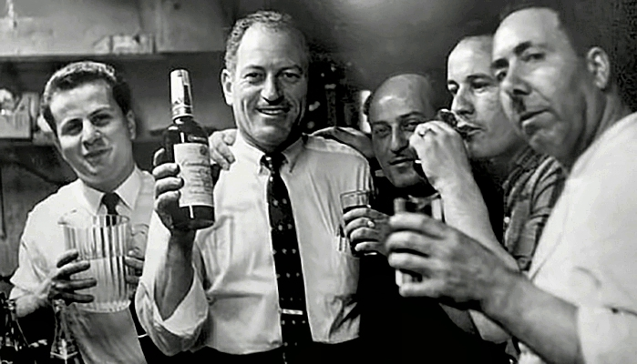 Mike Porco with bottle