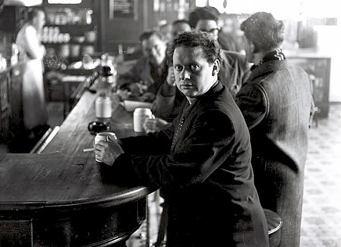 Dylan Thomas at WH Bar  1952