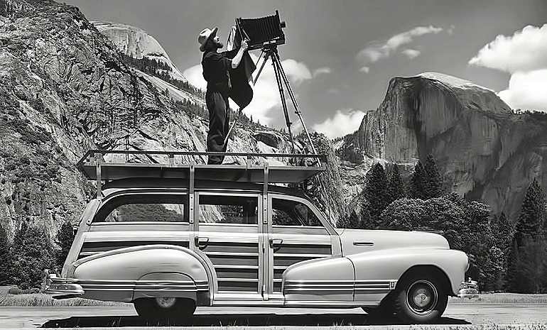 Ansel Adams on car