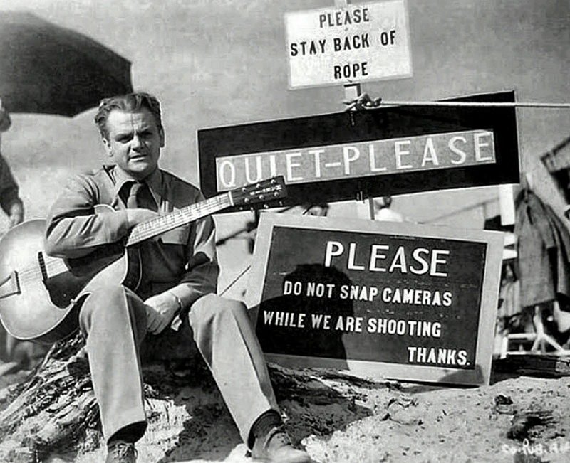 James Cagney and his guitar