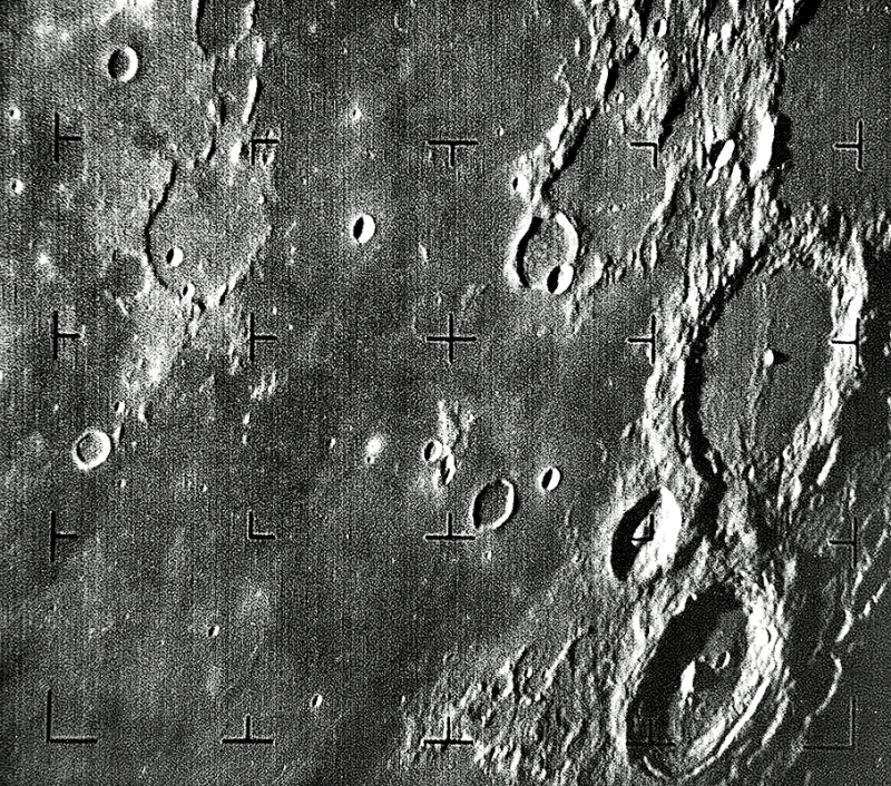 Ranger 7 first moon image July 31  1964