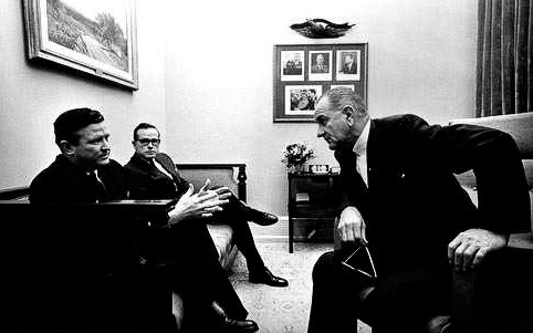 Gov. Robert McNair Meets with President Lyndon Johnson