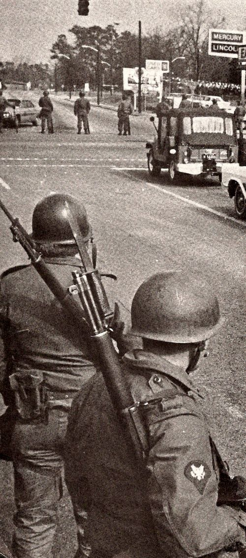 National Guard on the Streets of Orangeburg in 1968
