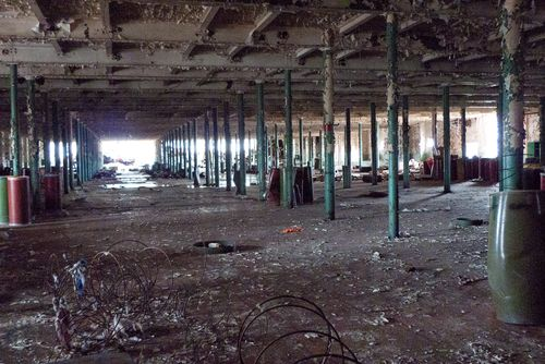 Inside Chiquola Mill as Demolition Proceeded in Dec. 2008
